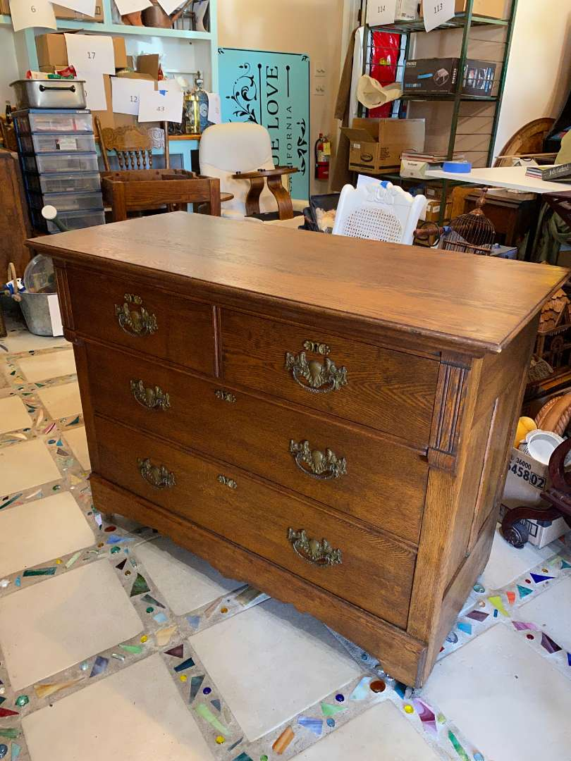 Lot # 115 - Quality Antique Dresser with Key (main image)