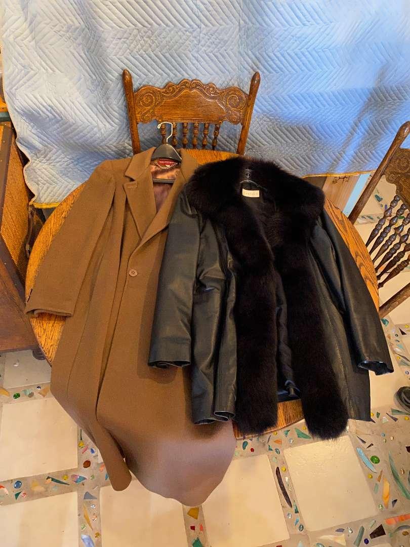 Lot # 128 - Wool & Leather Coats (main image)
