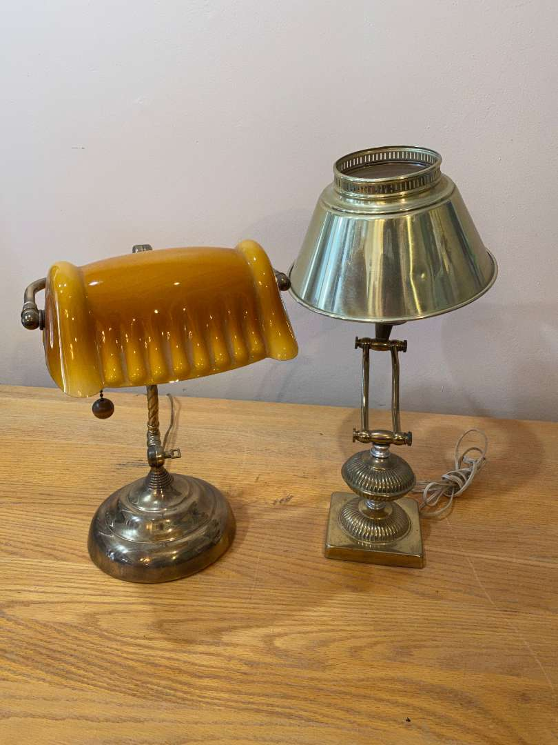 Lot # 142 - Two Desk Lamps (main image)