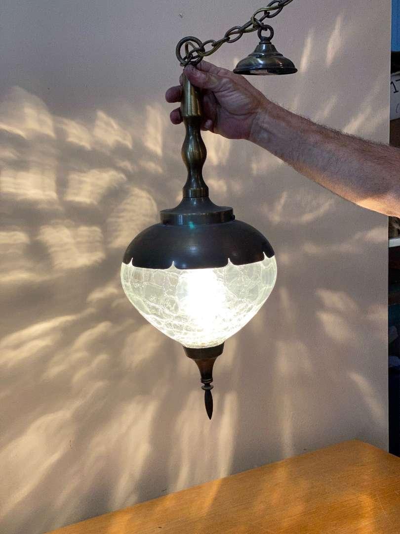 Lot # 145 - Mid Century Hanging Lamp (main image)
