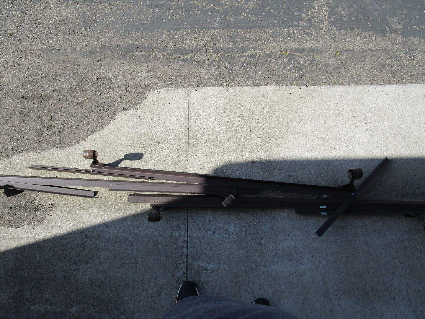 Lot # 42 - Adjustable king to queen Bed Frame (main image)