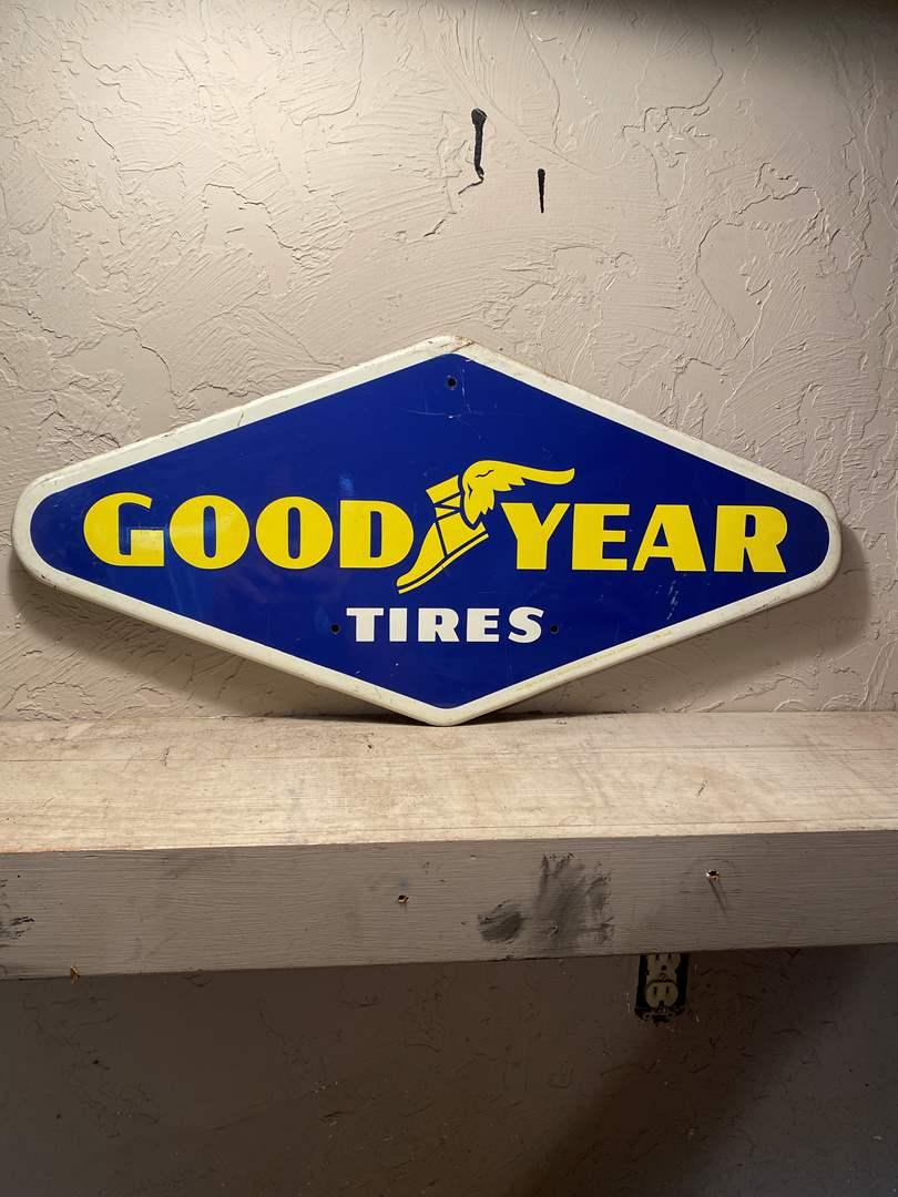 Lot # 21 - Vintage Metal Goodyear Sign (main image)