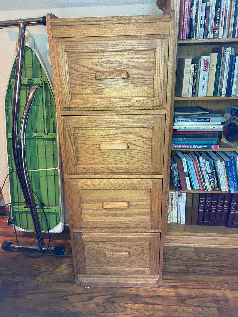 Lot # 160 - Oak Filing Cabinet (main image)