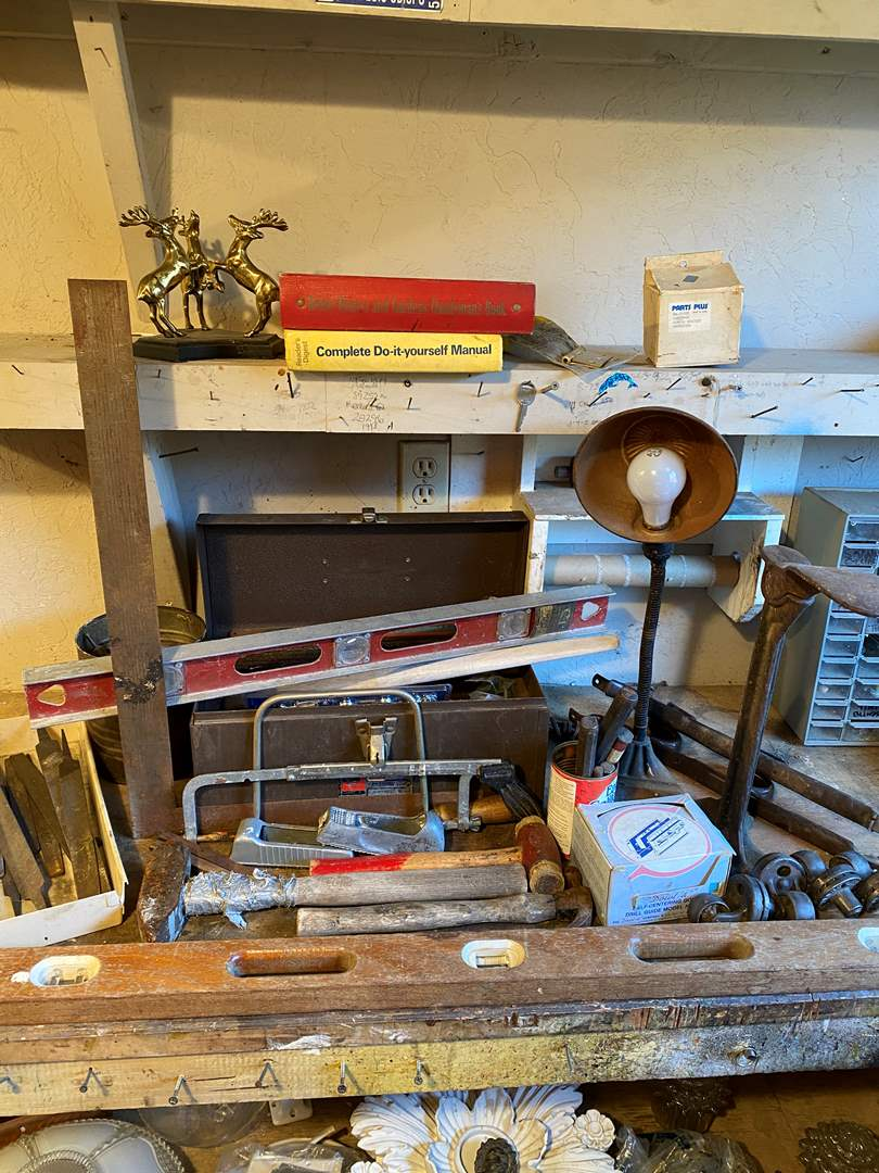 Lot # 38 - Assortment of Tools and Work Bench Goods (main image)