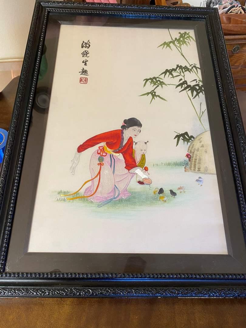 Lot # 189 - Hand Painted Silk Art (main image)