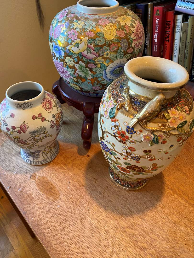 Lot # 200 - Three Chinese Porcelain Vases (main image)
