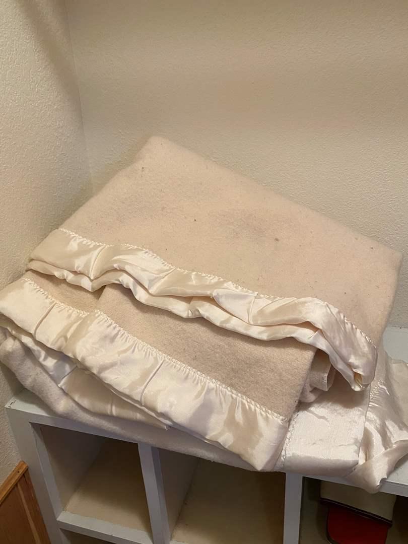 Lot # 225 - 3 Blankets, 2 Wool (1 w/Damage) 1 Acrylic  (main image)