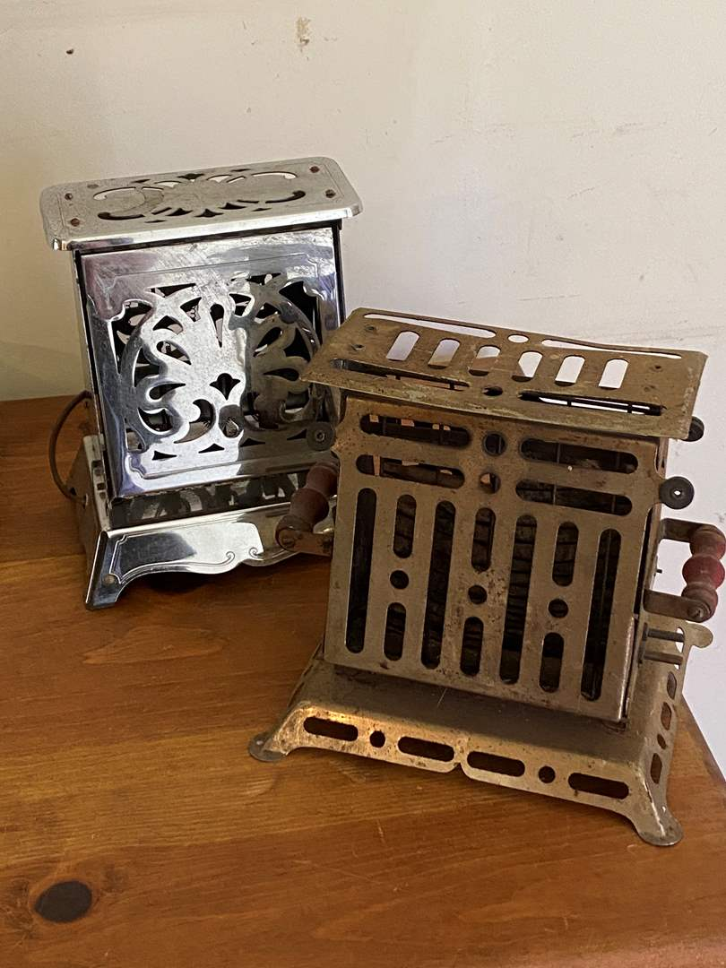 Lot # 61 - Antique Toasters (main image)