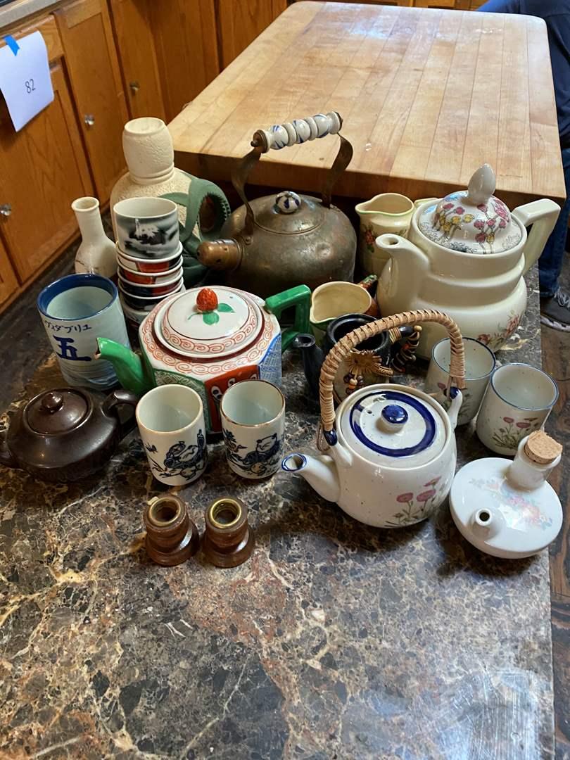 Lot # 84 - Tea Pots and Cups (main image)