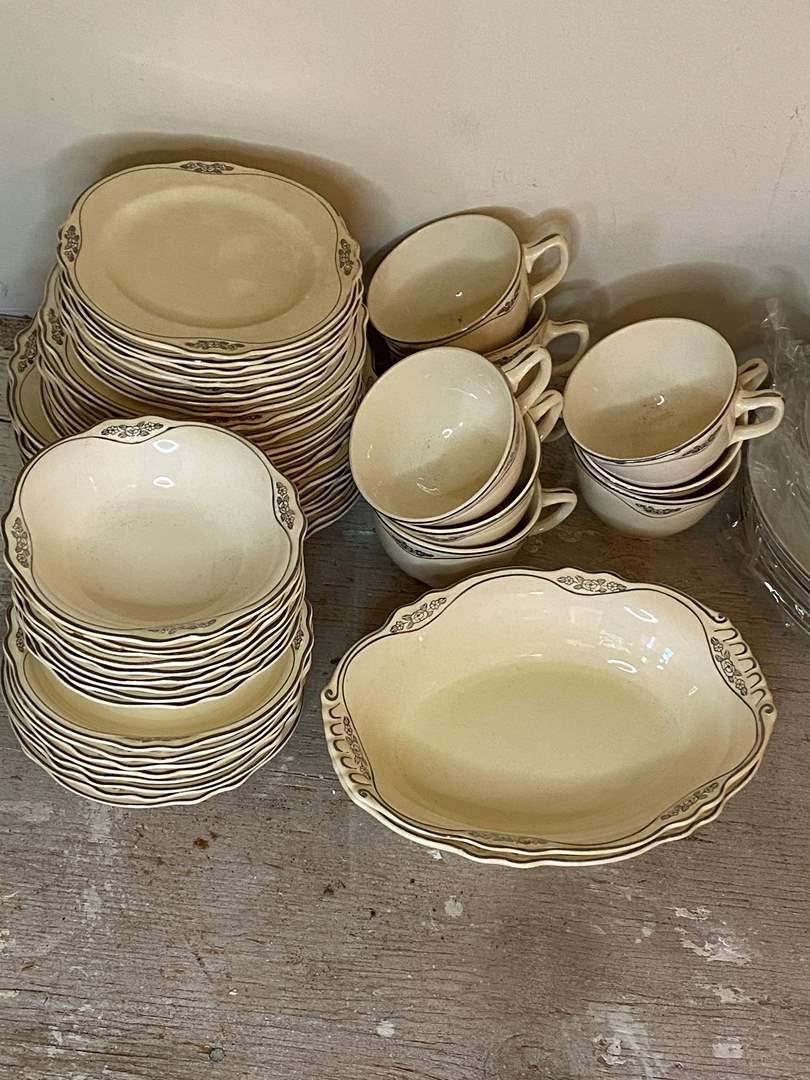 Lot # 94 - Homer Laughlin Dish Set & Lenox Pieces (main image)