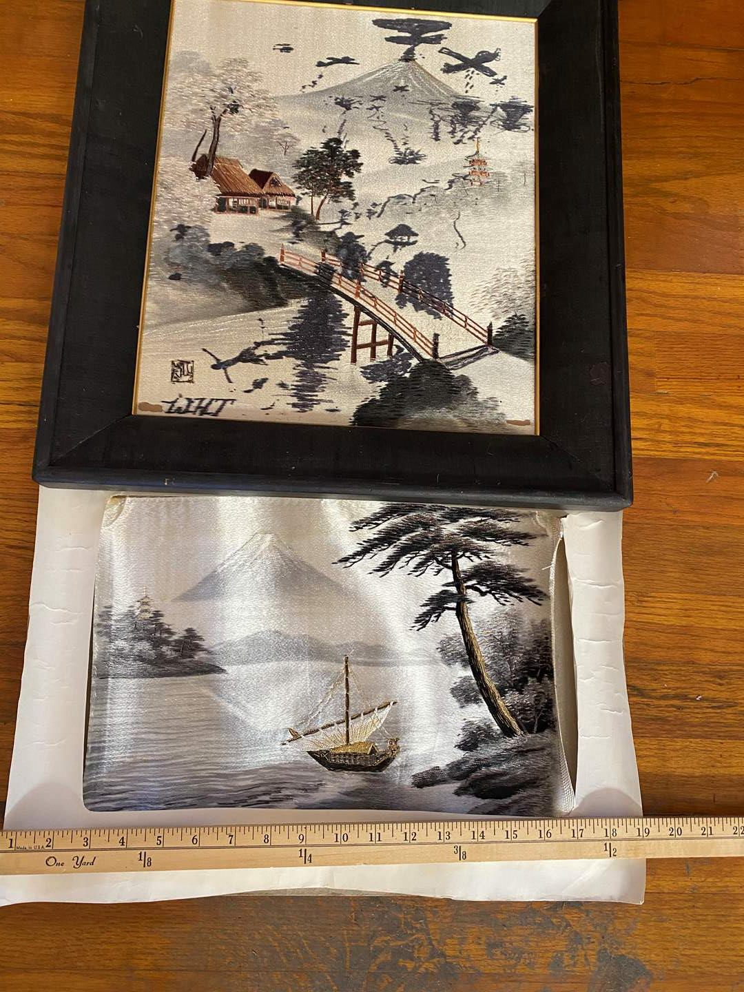 Lot # 219 - Asian Silk Art, Hand Stitched (main image)