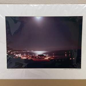 "Lot # 2 -  ""Moon River - Cayucos"" Ralph Wessel, Artist Photo Print"