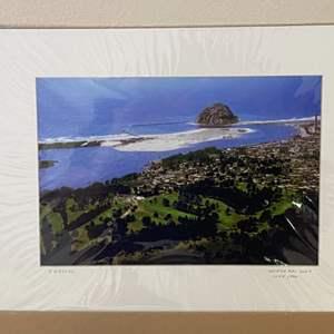 "Lot # 3 - ""Morro Bay Golf Course"" Ralph Wessel, Artist Photo Print"