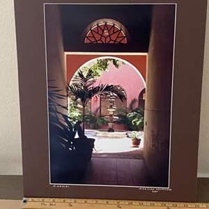 "Lot # 15 - 16x20 ""Mexican Courtyard"" Ralph Wessel, Artist Photo Print"