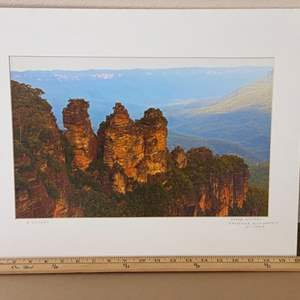 Lot # 19 - 16x20 Three Sisters Katoomba Blue Mountains, Australia Ralph Wessel, Artist Photo Print