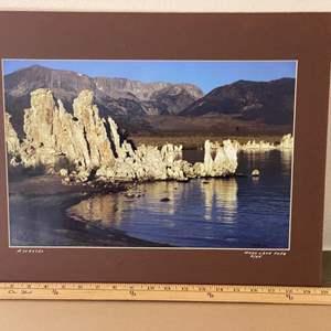 Lot # 20 - 16x20 Mono Lake Tufa Ralph Wessel, Artist Photo Print