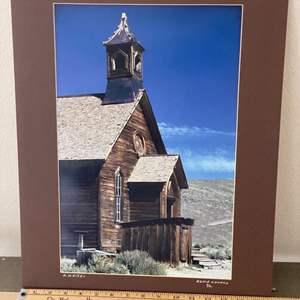 Lot # 23 - 16x20 Bodie Church Ralph Wessel, Artist Photo Print