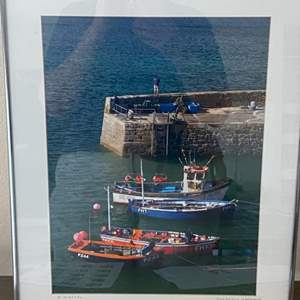 Lot # 27 - Framed 16x20 Coverack Harbour Ralph Wessel, Artist Photo Print