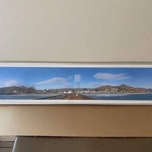 Lot # 30 - 10x42 Framed Cayucos Pier Panorama Ralph Wessel, Artist Photo Print