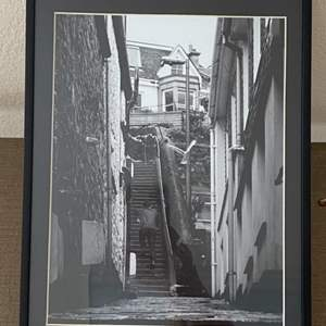 Lot # 34 - Framed 9x12 St. Ives Stairway Ralph Wessel, Artist Photo Print
