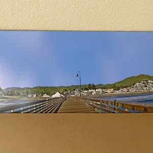 Lot # 35 - 8x40 Cayucos Pier Panorama Ralph Wessel, Artist Photo Print