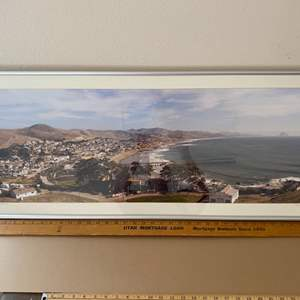 Lot # 42 - Framed 16x40 Cayucos-From the North Ralph Wessel, Artist Photo Print