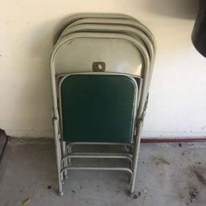 Lot # 38 - Great quality folding chairs from the 70s