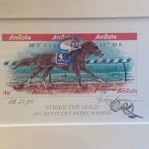 Lot # 7 - Kentucky derby winner 1991 litho 27/55