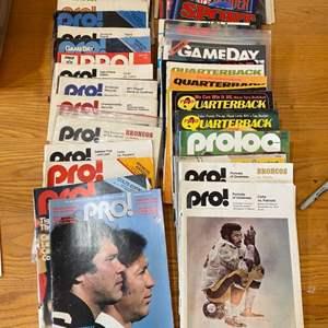 Lot # 9 - Vintage football magazines