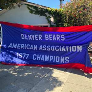 Lot # 10 - Large pennant flag two sided 18' long