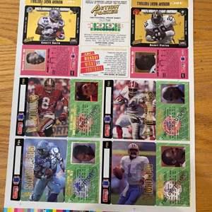 Lot # 11 - 1993 football proof sheet uncut