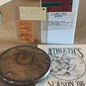Lot # 15 - 1930's USC Ticket, Jim Thorpe video and other track & field items