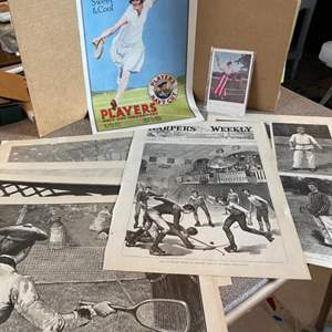 Lot # 16 - Tennis ads and illustrations from the 1920-30's