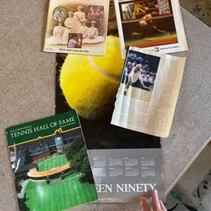 Lot # 18 - 2 Martina Navratilova signatures and other tennis items