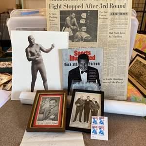 Lot # 22 - Mike Tyson original signature and other boxing memorabilia