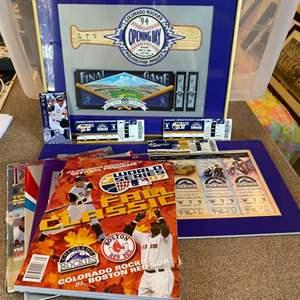 Lot # 24 - Coors stadium & Rockies memorabilia