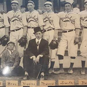Lot # 34 - Underhill Original team photo with handwritten name notes