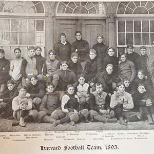 Lot # 35 - Harvard 1895 football team photo along with other team photos