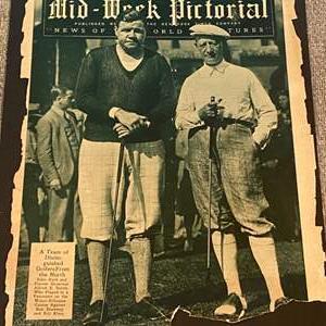 Lot # 47 - 1930 original magazine cover with Babe Ruth