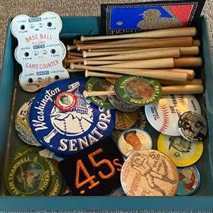 Lot # 53 - Sporting memorabilia box