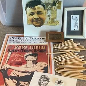 Lot # 54 - Babe Ruth memorabilia