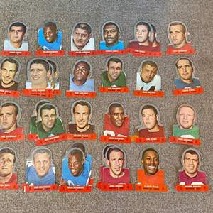 Lot # 55 - Football punch out stand up trading cards