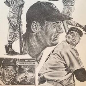 Lot # 61 - 46 Ted Williams posters on a quality paper