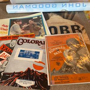 Lot # 65 - Movies and music Sporting items