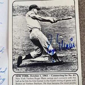 Lot # 71 - Roger Marris autograph along with museum documentation