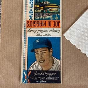 Lot # 72 - Joe DiMaggio and Lou Gehrig items