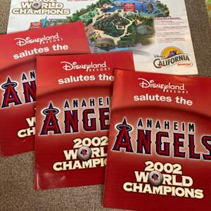 Lot # 79 - Disneyland salutes the Anaheim Angels 2002 world champions maps