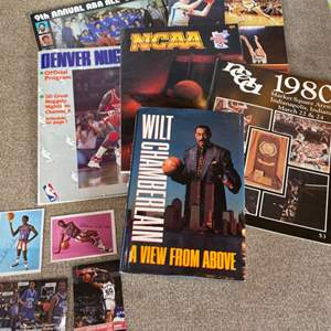 Lot # 93 - Basketball trading cards, programs and books