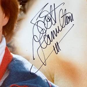 Lot # 95 - Olympic memorabilia with Scott Hamilton's signature