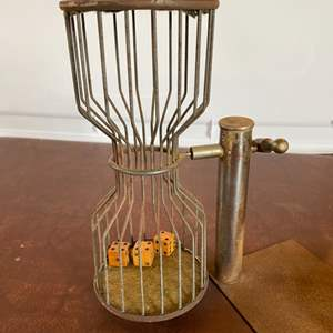Lot # 97 - vintage dice cage